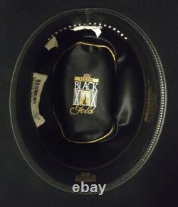 Resistol 20X Black Gold Felt Hat 7 1/4 Long Oval 4 1/4 Brim Great Condition