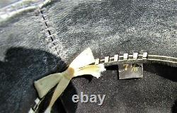 Resistol 20x Beaver Black Gold Western Cowboy Hat Sterling Buckle Vintage 7 1/8