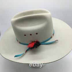 Resistol 4x Beaver Cowboy Hat SZ 6 7/8 Ridgetop Long Oval Deming Silver Belly