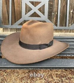 Resistol Chaparral mink brown 4X Beaver western cowby hat size 7 1/2