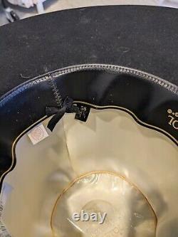 Resistol Hi 75 Hat 7 1/4 Rare $269 Msrp Blk wide brim Western Cowboy 5X Beaver