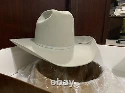 Resistol Mens 20X Silver Felt Cowboy Hat