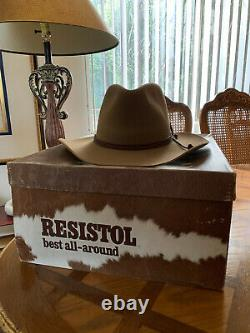 Resistol Self Conforming 4XXXX Beaver Size 7 3/8 Made in Texas, U. S. A