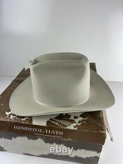 Resistol Wild West Cowboy Hat 7X Beaver W55 Chute Size 7 1/4 Perfect With box