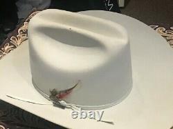 Resistol XXXXX 5X Beaver Felt Cowboy Hat SIZE 6 7/8 Cattleman Mist Tan Vintage