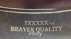 Rodeo King 10 Gallon Gus 5xxxxx Beaver Western Cowboy Hat Size 7 1/4 In Box