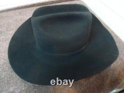 Rodeo King 20X Beaver Black Cowboy Hat Excellent Condition 6 7/8