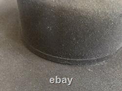 Rodeo King 7X Black Felt Cowboy Hat Long Oval Beaver