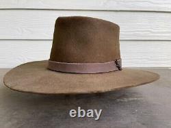Rugged Beaver Felt Vintage Antique Old West Clint Eastwood Cowboy Hat 7 1/8 57cm