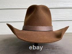 Rugged Gus Vintage Antique Bailey Old West Cowboy Hat 7 1/8 Western John Wayne