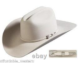 SILVER BELLY 4X Beaver Fur Felt HAT 4 Brim Rodeo King Cowboy Western Strait
