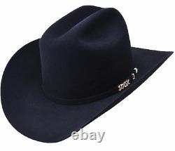 Serratelli 100x El Comandant Black 4 Brim Western Cowboy Hat All Sizes