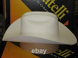 Serratelli 100x El Comandant White 4 Brim Western Cowboy Hat All Sizes