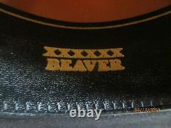 Serratelli Beaumont 6x Beaver Black Cowboy Hat, Long Oval, Size 7 1/8