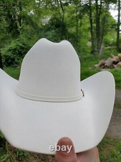 Serratelli Las Cruces Hat 8x Fancy Show Hat, Sharp Western Cowboy Hat Size 7 1/8