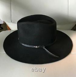 Stallion by Stetson 3x Beaver Black Western Cowboy Hat Men's Size 7 1/4