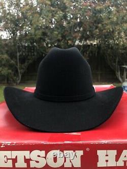 Stetson 30X Hat Beaver Fur EL PATRON Black hat 6-7/8