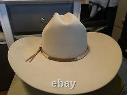 Stetson 4X Beaver 7 1/8 Genuine Fur Felt Cowboy Great Western Hat XXXX VINTAGE