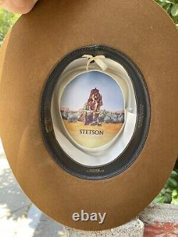 Stetson 4X Beaver Vintage Cowboy Hat Brown Sassanos Clovis, Calif