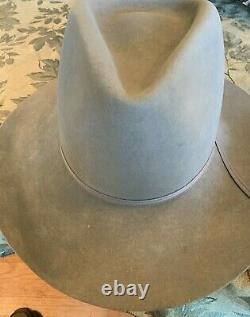 Stetson 4x beaver hat Tycoon Dune pinch front resistol in 1/2 box with Form-nice