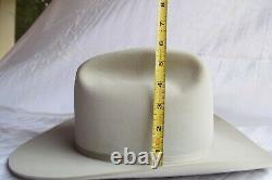 Stetson 5X Cowboy Hat 7 1/4 LO sliver grey