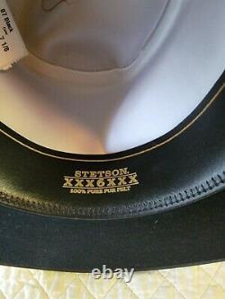Stetson Amish 6X Beaver Fur Felt (Wyatt Earp) 7-1/8 Crown 41/2 Bounded Brim 4