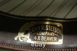 Stetson Beaver Western Style 4X Mans Hat In Light Beige 55 6 7/8