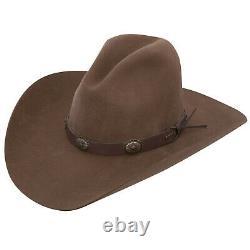 Stetson Boot Hill 3X Felt Stallion Collection Cowboy Hat Acorn Brown 4 Brim