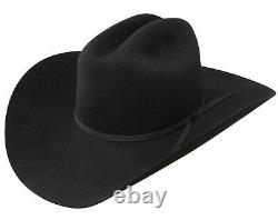 Stetson Cattleman 3X Felt Stallion Collection Cowboy Hat Black 4 Brim