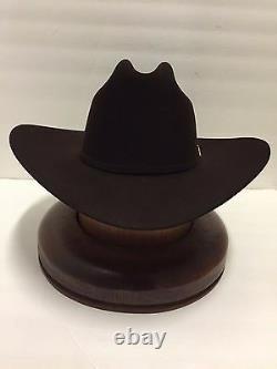 Stetson Cowboy Hat 100X Beaver CHOCOLATE Fur EL PRESIDENTE+HatBrushl