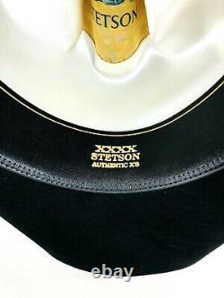 Stetson Cowboy Hat 4X Beaver Black Carson 7 1/8 33/4 Rim withOrig Box & Brush