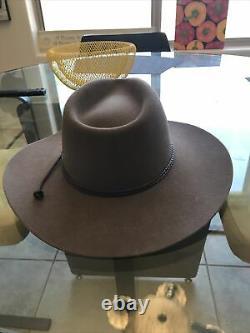 Stetson Cowboy Hat 4X Beaver Brown-Taupe Carson 7 1/8 3 1/2 Brim