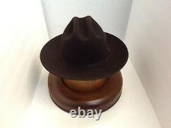 Stetson Cowboy Hat 6X Beaver Felt Chocolate Open Road With Hat Brush Cleaner