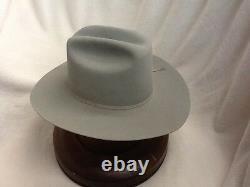 Stetson Cowboy Hat 6X Beaver Fur Mistgrey31/2Rancher WithFreeHat Brush