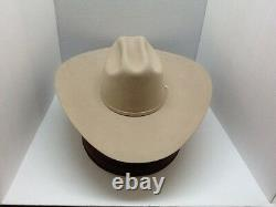 Stetson Cowboy Hat 6X Beaver Fur SilveBelly High Noon 5brim FreeHatBrush