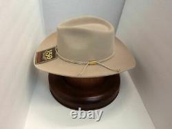 Stetson Cowboy Hat 6X Beaver Fur SilverBelly Carson With Free HAT Brush