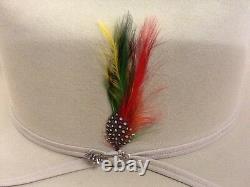 Stetson Cowboy Hat 6X Beaver Fur Silverbelly RANCHER+Free Hat Brush