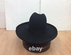 Stetson Cowboy Hat 6X TOM MIX Beaver Fur Black 5brim FreeHatBrush