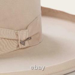 Stetson Cowboy Hat 6X TOM MIX Beaver Fur Silver Belly 5brim Free Hat Brush