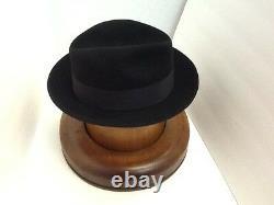 Stetson Cowboy Hat Beaver Fur Black SAXON free Brush