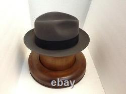 Stetson Cowboy Hat Beaver Fur CARIBOU SAXON free Brush