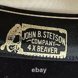 Stetson Cowboy Hat Riverton 4X Beaver Black 7 5/8