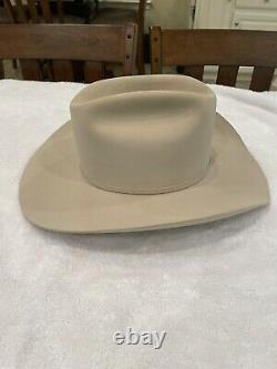 Stetson Hats Mens El Presidente 100X 4 Brim Silverbelly Felt Cowboy Hat Beaver
