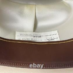 Stetson Open Road Western Cowboy Hat 61 Silver Belly 4X Beaver Sz 7 1/8L With Box