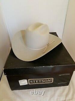 Stetson Rancher 10X Mist Grey Cowboy Western Hat Size 7-3/8 with Box