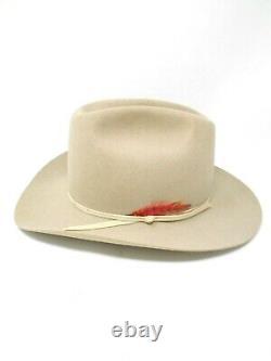 Stetson Rancher 7 1/4 MIST GREY 6X Beaver Fur Felt Cowboy Hat FX010