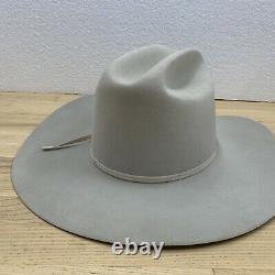 Stetson Rancher MIST GREY 6X Beaver Fur Felt Cowboy Hat XXXXXX Lightly Worn