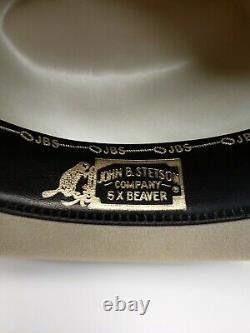Stetson Rancher Western Hat 5X Beaver Mist Gray Sz 7 1/4 Long Oval