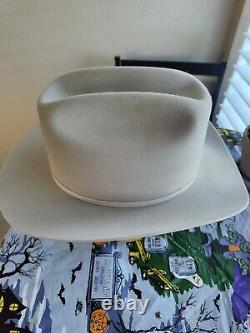Stetson Range 5X Vintage Hat Size 7 1/4 Mist Grey