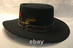 Stetson Revenger 4X Beaver Cowboy Western Hat, Black, 6-7/8, Vintage, WF20525